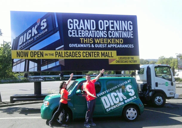 Billboards2Go.com Mobile Billboard image - Client Dick's Sporting Goods