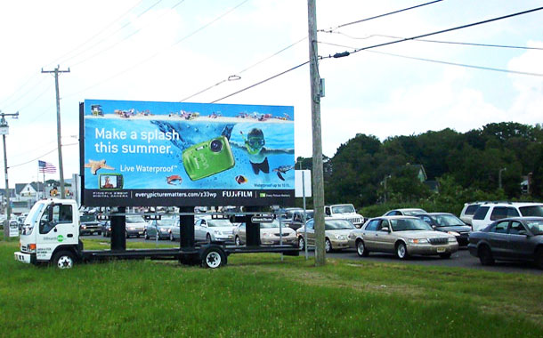 Billboards2Go.com mobile billboard image - Client Fujifilm