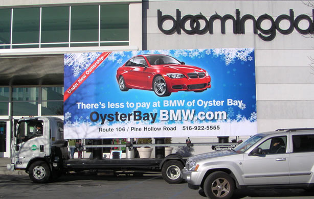 Billboards2Go.com mobile billboard image - Client BMW