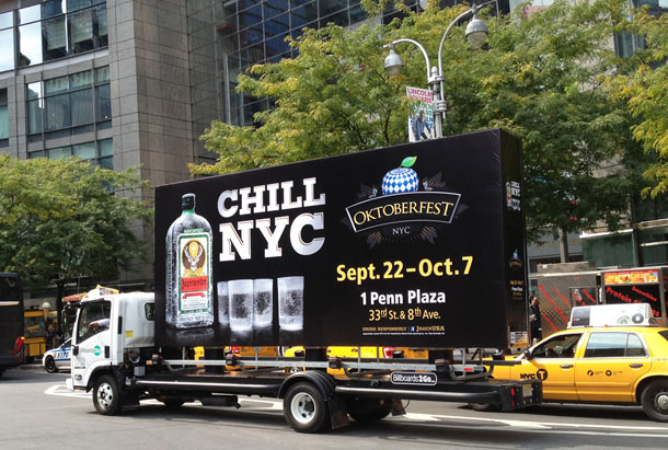 Billboards2Go.com mobile billboard image - Client Jagermeister