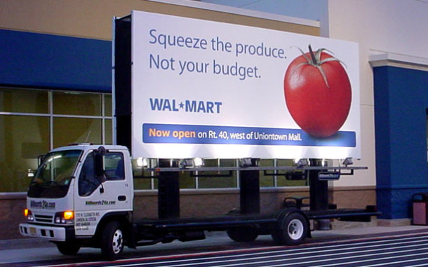 Billboards2Go.com Mobile Billboard image Client Walmart