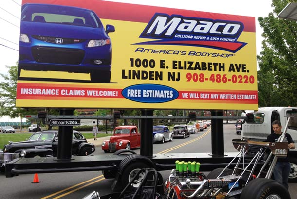 Billboards2Go.com mobile billboard image - Client Maaco
