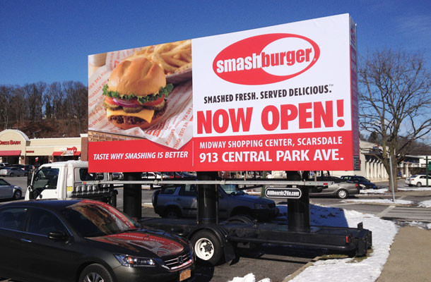 Billboards2Go.com Mobile Billboard image Client Smash Burger