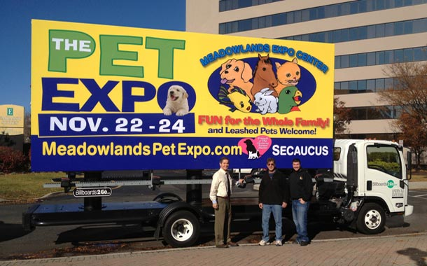 Billboards2Go.com mobile billboard image - Client Pet Expo