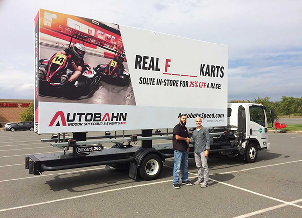 Autobahn Indoor Speedway Mobile Billboard
