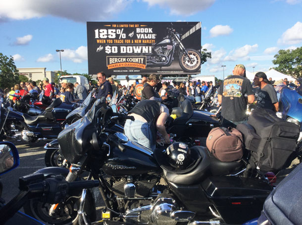 Harley Davidson Mobile Billboard