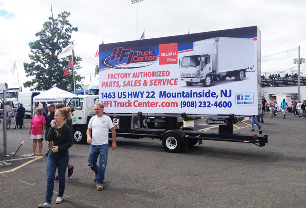 Billboards2Go.com Mobile Billboard image - Client HFI Truck Center