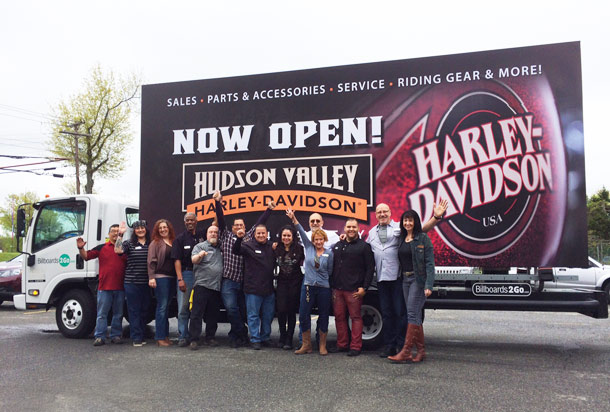 Hudson Valley Harley Davidson Mobile Billboard