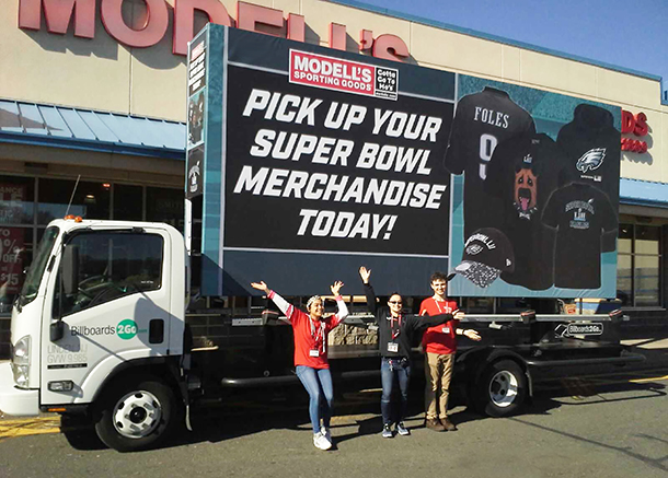 Modell's Sporting Goods Mobile Billboard Image