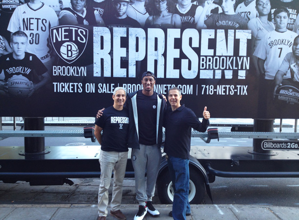 Billboards2Go Mobile Billboard Image Andrew Miller Brooklyn NETS basketball player