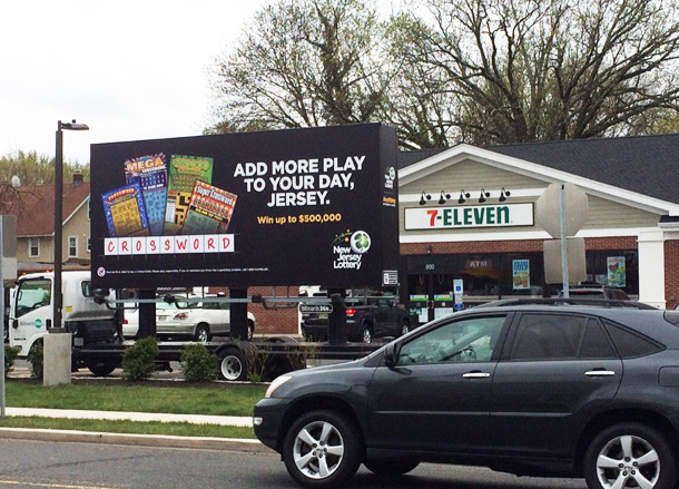 New Jersey Lottery Mobile Billboard at 7-Elleven