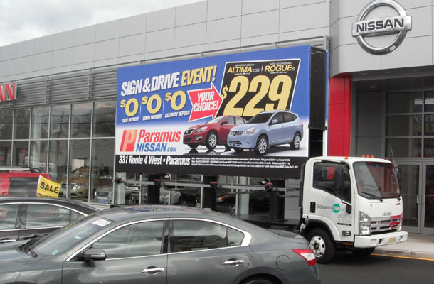 Billboards2Go.com mobile billboard image - Client PARAMUS NISSAN