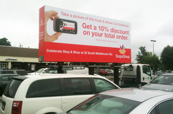 Billboards2Go.com mobile billboard image - Client Stop n Shop
