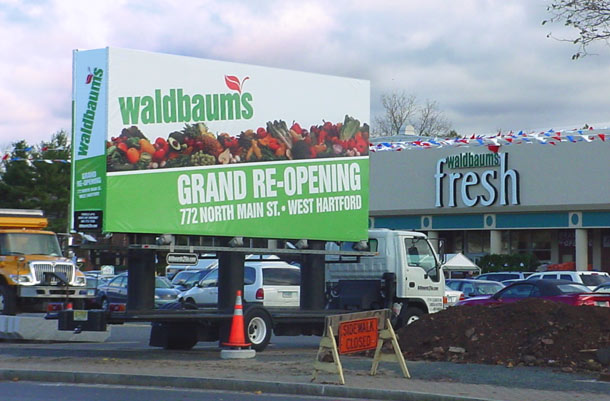 Billboards2Go.com mobile billboard image - Client WALBAUMS