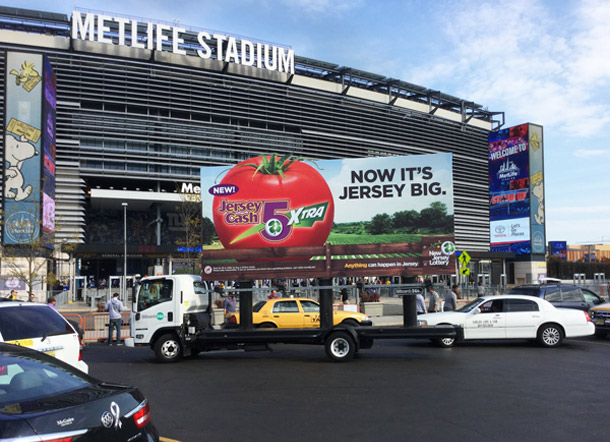 New Jersey Lottery Mobile Billboard at Met Life Stadium