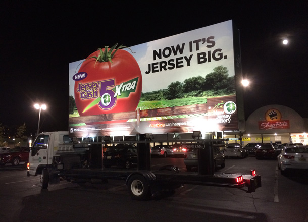 New Jersey Lottery Mobile Billboard at Shoprite